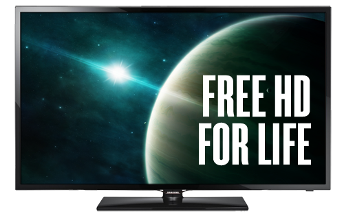 DISH free HD for life